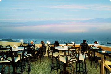 Terrace Seating View from Bayview Cafe Colaba Mumbai